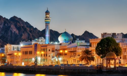 The Muttrah Corniche in Muscat, Oman. This image was used for the 2020 MENA Economic Update.