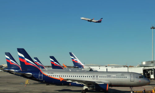 Airplanes at Sheremetyevo Airports, Moscow, Russia